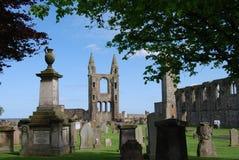 Graveyard At Cathedral royalty free stock photos