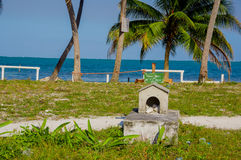 Graveyard in caye caulker belize Royalty Free Stock Photo