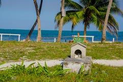 Graveyard in caye caulker belize Royalty Free Stock Photo