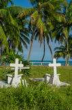 Graveyard in caye caulker belize Royalty Free Stock Images