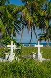 Graveyard in caye caulker belize Royalty Free Stock Images