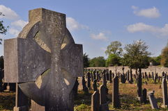 Graveyard celtic cross Stock Images