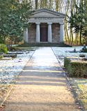 Graveyard chapel in Bandelin, Mecklenburg-Vorpommern, Germany, based on ancient roman architecture. The roman numeral means 1922.  royalty free stock images