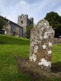 Graveyard and church in Balrothery Stock Image