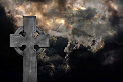 Graveyard cross Royalty Free Stock Photos