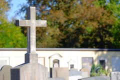 Graveyard cross Royalty Free Stock Photography