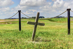 Graveyard cross Stock Image