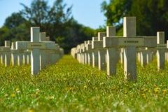 Graveyard in memorium crosses Royalty Free Stock Photography