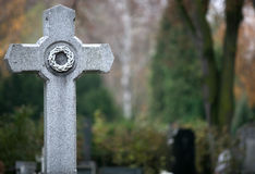 Graveyard crucifixion Royalty Free Stock Photography