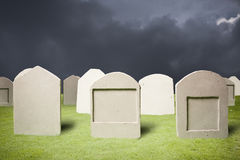 Graveyard at dark night Royalty Free Stock Image