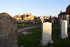 Graveyard at Elie Parish Church, Fife Stock Photos