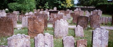 graveyard in England Royalty Free Stock Image