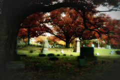 Graveyard, Fall Colors Stock Photography