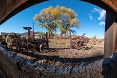 Graveyard for farm equipment Stock Image