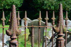 Graveyard Fence with spikes Royalty Free Stock Photos