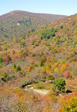 Graveyard fields section of the Blue Ridge Parkway Royalty Free Stock Photo