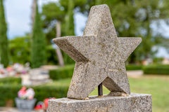 Graveyard five-pointed star Stock Images