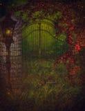 Graveyard gate royalty free stock photos