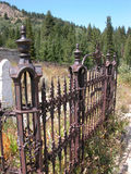 Graveyard in Ghost Town Royalty Free Stock Images