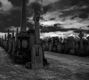 Graveyard in Glasgow royalty free stock photography