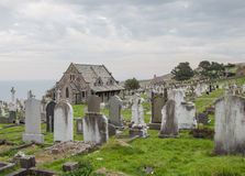 Graveyard on Great Orme's Head, North Wales Stock Photos