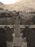 Graveyard in Hills Stock Images