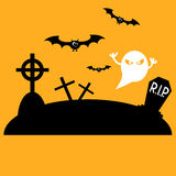 Graveyard icon Royalty Free Stock Photography