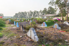 The graveyard at Jing Gung Cemetery Stock Images