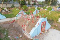 The graveyard at Jing Gung Cemetery Royalty Free Stock Photo