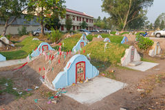 The graveyard at Jing Gung Cemetery Stock Photography