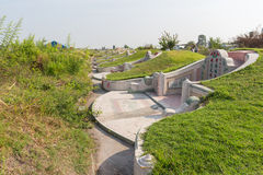 The graveyard at Jing Gung Cemetery Royalty Free Stock Images
