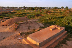 Graveyard in Juba Stock Photography