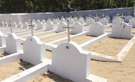 Graveyard in kerala Royalty Free Stock Images