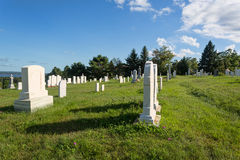 Graveyard in late afternoon light Stock Photography