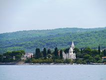 A graveyard with a mausoleum in the Mediterranean Stock Photo