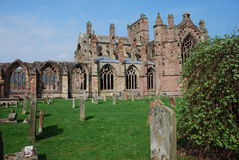 Graveyard At Melrose Abbey Stock Image