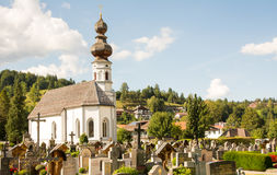 Graveyard in Mittenwald Royalty Free Stock Photo