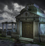 Graveyard at night Royalty Free Stock Photography