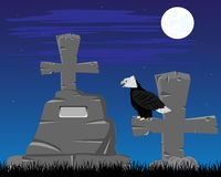 Graveyard in the night Royalty Free Stock Photography