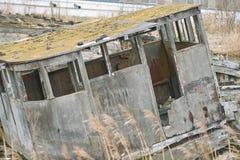 Graveyard of old ships. Royalty Free Stock Image