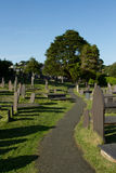 Graveyard path. Royalty Free Stock Images