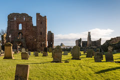 Graveyard Priory and Castle Royalty Free Stock Image