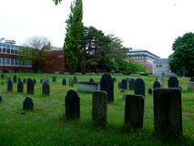 Graveyard in Salem, Masachusetts Royalty Free Stock Image