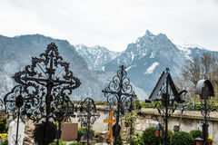 Graveyard in Salzkammergut, Austria Royalty Free Stock Photos