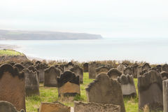 Graveyard by the sea Royalty Free Stock Photos