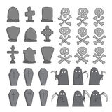 Graveyard sketch collection Stock Images