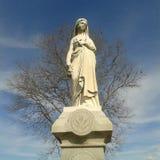 Graveyard 2. Springtime grave marker Stock Images