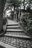 Graveyard steps stock photography