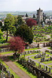 Graveyard, stirling castle. Stirling castle graveyard and church Royalty Free Stock Images