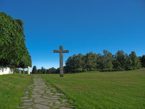 Graveyard in Stockholm (UNESCO patrimony) Royalty Free Stock Photo